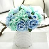 12のカラー熱い販売のローズの花束の人工花(SF12504)
