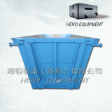5m Blue Stackable Chain Lift Bins avec un Door