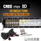 barra chiara del lavoro di 72W LED (12.5inch, 5500lm, IP68 impermeabili)