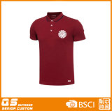 T-shirt sec d'ajustement de polo des sports des hommes