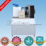 China Koller Salt Water Flake Ice Maker Machine mit PLC Controller für Fishing Boat