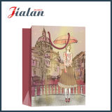 Drawing Streetscape Ivory Paper Fashion Lady's Shopping Gift Paper Bag