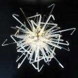 Lâmpada de cristal e candelabro do diodo emissor de luz para a decoração de suspensão da iluminação da arte
