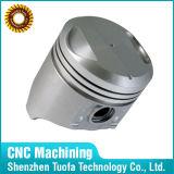 Piston de usinage d'aluminium de pièces de commande numérique par ordinateur d'OEM de précision faite sur commande