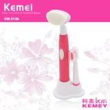 Cepillo de dientes eléctrico de Kemei Km-3106 y cepillo giratorios rotatorios impermeables especiales 2 de la cara en 1.