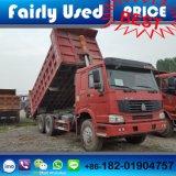 Verwendeter 6X4 HOWO Lastkraftwagen mit Kippvorrichtung des Kipper-Kippers zu den afrikanischen Ländern