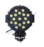 50W Round Red Black LED Work Light para Offroad