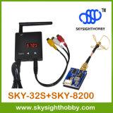 Skysight Fpv gesetzter Sky-32s 5.8GHz Fpv Handels Selbstscan-Empfänger + Sky-8200 Mini200mw Fpv Übermittler