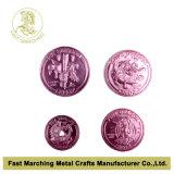 Pièce de monnaie en aluminium anodisée, marques chaudes de vente