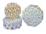 Rectángulo de papel del hexágono para el conjunto de las tarjetas con diseño de la manera