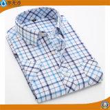 Het in het groot Overhemd van de Controle van de Koker van de Kleding van het Overhemd van de Mensen van de Manier Toevallige Lange