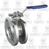 鋳造物の非常に薄い球弁はとのISO指示する据付パッド(PSQ72F)を