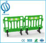 Barreira de segurança de segurança de tráfego portátil amarela de 1m