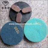 벨크로를 가진 크롬 18 화강암 다이아몬드 젖은 유연한 닦는 패드