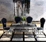 Cadeira de tabela popular superior de pedra moderna da sala de jantar dos pés do aço inoxidável