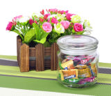 Lidの17oz/600ml Glass Candle Jar Candy Jar