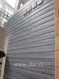 Voie de garage décorative interne et externe de grain en bois