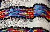 Frauen-übergrosse Seite schlitzte Hallo-Lo Rand Striped Strickjacke auf