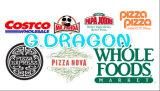 유럽 작풍 얇은 계기 물결 모양 Kraft 피자 상자 (피자--058)