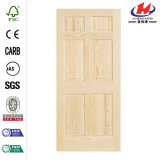Porta de madeira da laje 2-Panel interior lisa