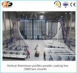 L'aluminium vertical profile la ligne d'enduit de poudre