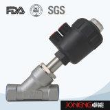 Acciaio inossidabile Pplastic pneumatica angolo sede della valvola di controllo (JN-STV1002)