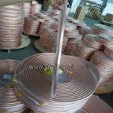 Tube de cuivre de pipe d'ASTM B280 d'enroulement de cuivre de crêpe