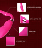 Le sexe à télécommande de produits adultes joue le vibrateur femelle de G-Endroit de rouleau-masseur