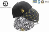 Forma Flat Hiphop Snapback Cap com 3D Embroidery e Printing Pattern