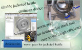 500L Oil Jacketed Cooking Kettle Electric Heating Jacketed Kettle con Agitator (serie di K-STM)