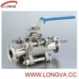 Válvula de bola de acero inoxidable de 3 piezas industriales