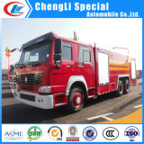8000liters 10t 12ton Water Foam Tank HOWO Fire Fighting Truck voor Sale