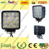 Lumière de travail de LED, lumière de travail de 16PCS*3W LED, 12V lumière de travail de C.C LED pour des camions
