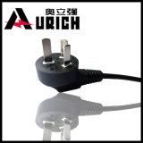 Plugue elétrico padrão chinês da autenticação Pbb-10 do CCC do cabo de poder