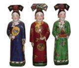 중국 사기그릇 동상 청 왕조 (LW318)