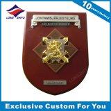 3D Trofee van het Schild van de Vorm van de Douane van de Medaille Houten