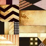 Het abstracte Decoratieve Schilderen met Houten Frame voor de Decoratie van het Huis