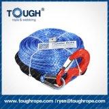 Corde de haute résistance tressée de treuil de fibre synthétique de Dyneema de 12 brins