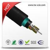 Cabo ao ar livre da fibra do dobro blindado do cabo ótico da fibra GYTY53