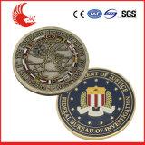 Monete acriliche antiche d'ottone su ordinazione della casella del commercio all'ingrosso della fabbrica della Cina
