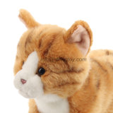 Peluche adorabile del gatto dell'animale realistico 11 del nuovo giocattolo 2016 ''