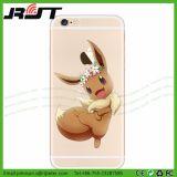 La caisse de téléphone estampée par Pokemon du dessin animé la plus chaude TPU pour l'iPhone 7 positif