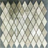 Pavimento di mosaico di pietra del Rhombus con grano di legno naturale