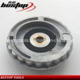 5 polegadas 125 mm Resina & Alumínio Snail Lock Backer Pad