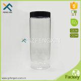 frasco 500ml cosmético plástico original com tampa preta