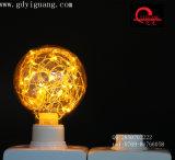 Bulbo colorido especial amarillo del material G80 del alambre de cobre de los bulbos de la estrella del LED