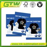 Laag de van uitstekende kwaliteit van de Deklaag van Pu, het Gemakkelijke Scherpe Donkere Document van de Overdracht van de T-shirt voor Katoenen van 100% Stof