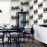 Bon papier peint du décor 3D de mur de barre de salle de séjour d'enduit de mur des prix de qualité