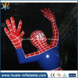 Historieta inflable del hombre araña del PVC, modelo inflable para hacer publicidad