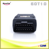 Perseguidor do GPS a posicionar o carro com OBD-II (GOT10)